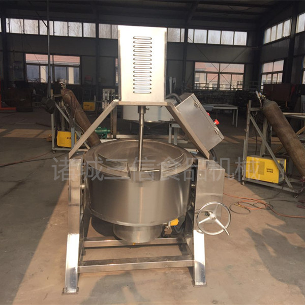 电加热豆浆搅拌夹层锅