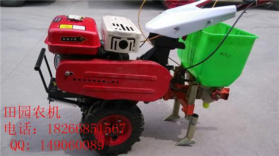 新型汽油自走式播种机微耕播种机