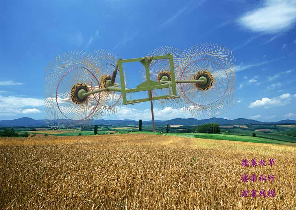 四盘拖拉机悬挂指盘式搂草机