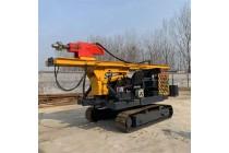 福建光伏履带式打桩机视频 履带太阳能光伏电打桩机厂家