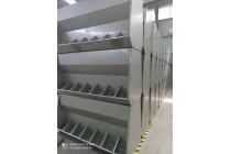 不锈钢料槽床料槽采食机单面双面料槽猪用食槽育肥猪料槽